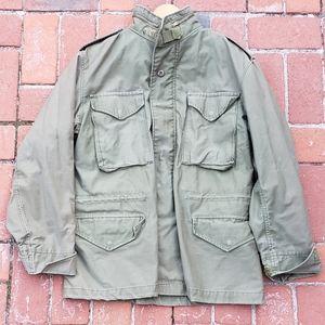 vintage Vietnam era Alpha military field coat